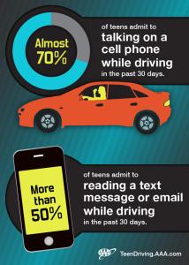 distracted driving teen