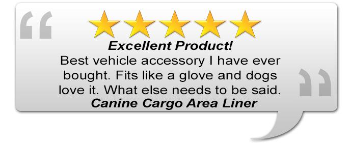 Canine Cargo Area Liner Testimonial