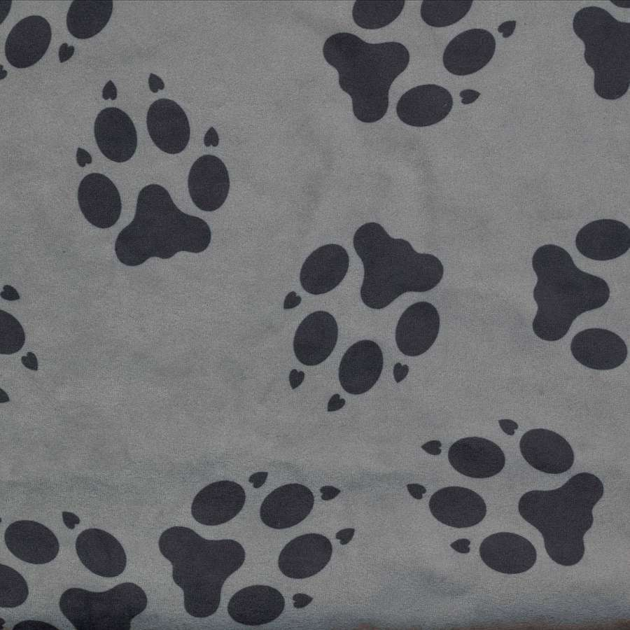 Canine Covers Paw Print Semi-Custom Bucket Seat Protector - Fathom (Gray)