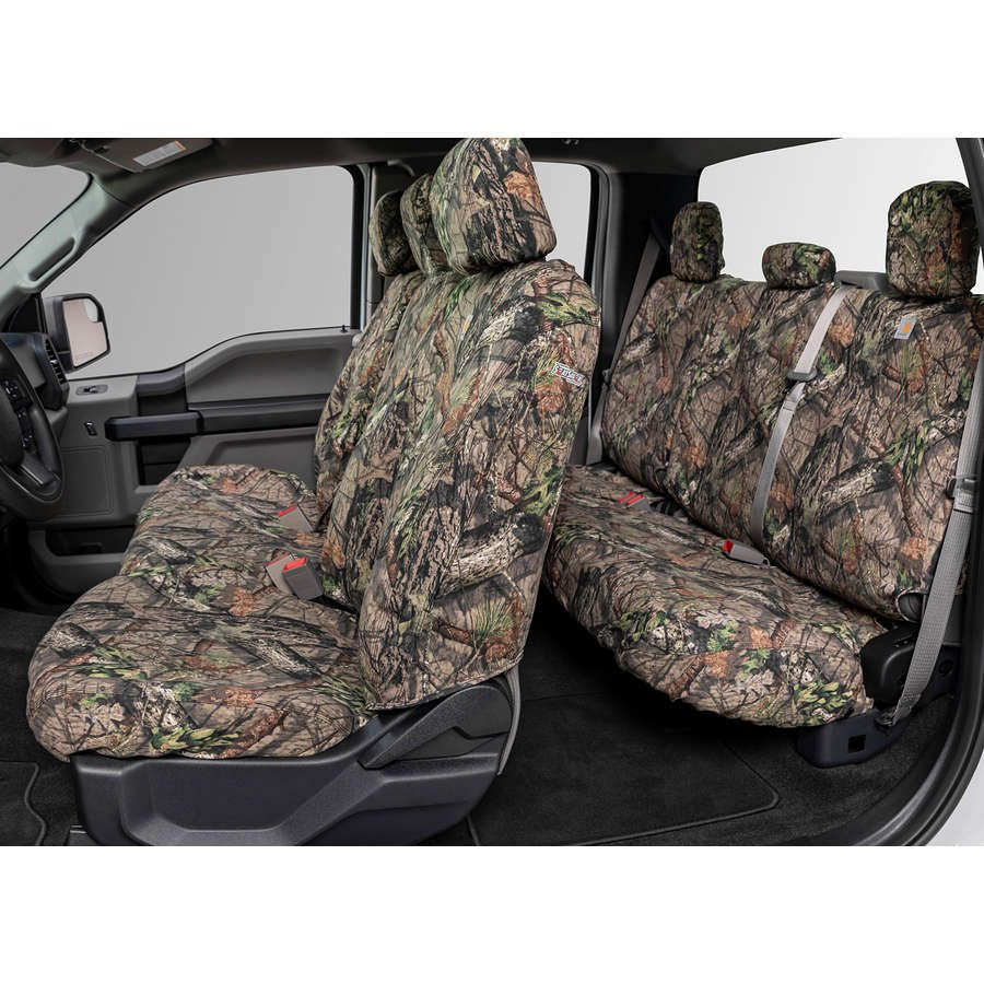 Duck Weave Covercraft Carhartt Mossy Oak Camo SeatSaver Front Row Custom Fit Seat Cover for Select Ram Models SSC2476CAMB Break-Up Country