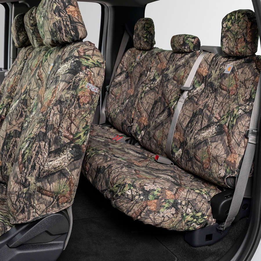 Break-Up Country Duck Weave Covercraft Carhartt Mossy Oak Camo SeatSaver Front Row Custom Fit Seat Cover for Select Ram Models SSC3429CAMB