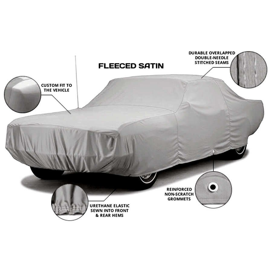 Fleeced Satin FS3902F5 Covercraft Custom Fit Car Cover for Select Oldsmobile L-35 Models Black