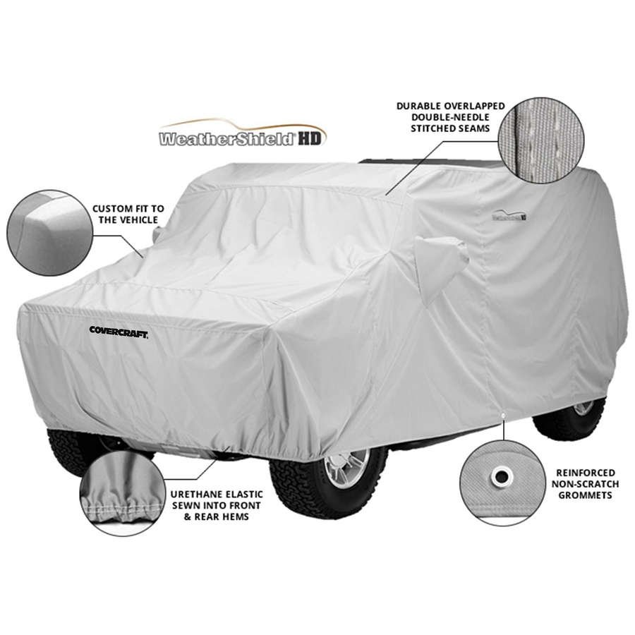 Covercraft Custom Fit WeatherShield HD Series Car Cover Gray C200HG