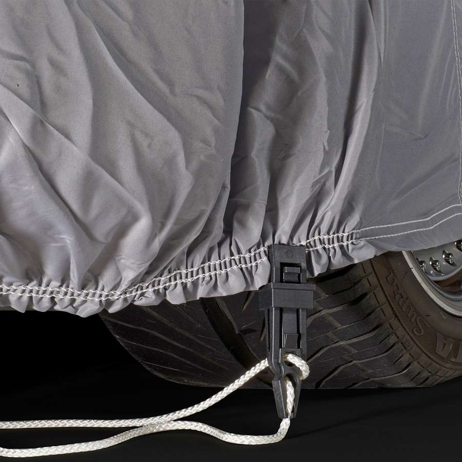 Gust Guard Blowing Off Heavy Winds Car Cover Cable Lock and Strap with Clips Set