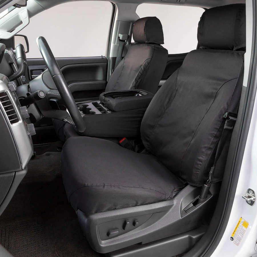 Third Seat Bench SeatSaver Seat Covers Misty Grey Covercraft Custom-Fit Rear Polycotton Fabric