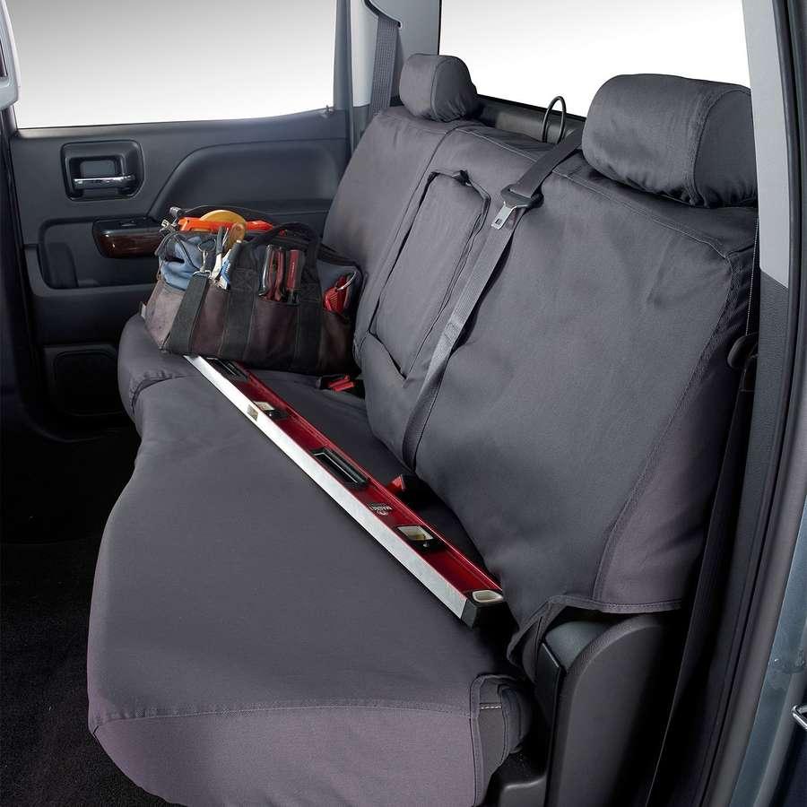 Third Seat Bench SeatSaver Seat Covers Navy Blue SS7405PCBL Polycotton Fabric Covercraft Custom-Fit Rear