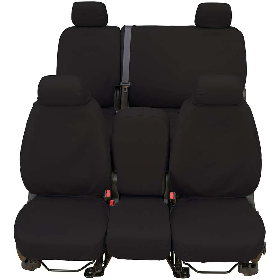 Polycotton Fabric Charcoal Black SS8357PCCH Covercraft Custom-Fit Rear-Second Seat Bench SeatSaver Seat Covers