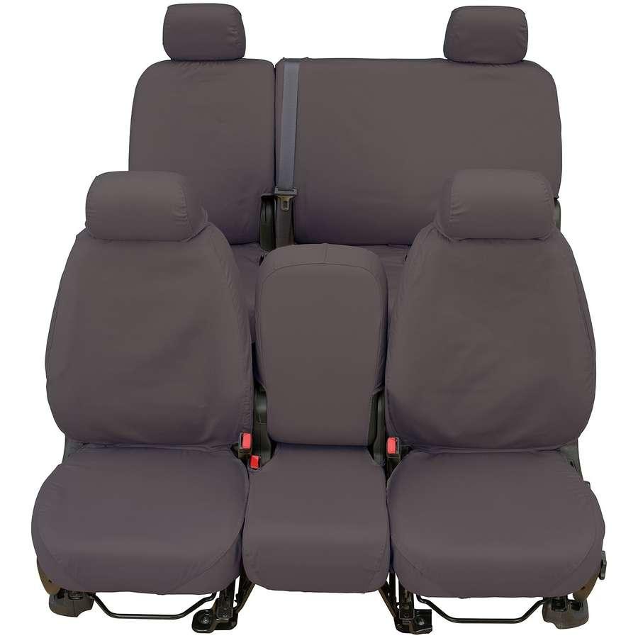 Grey Polycotton Fabric Covercraft Custom-Fit Rear-Second Seat Bench SeatSaver Seat Covers