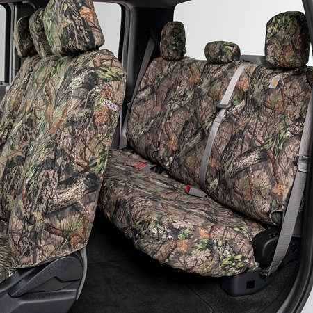 Covercraft Carhartt SeatSaver Front Row Custom Fit Seat Cover for Select Toyota Highlander Models Brown Duck Weave